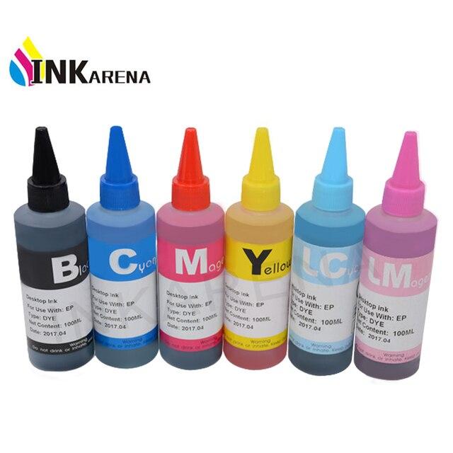 Пополнения чернил для принтеров Epson чернила Stylus Photo T50 R290 R295 R390 RX590 RX610 RX615 RX690 1410 TX650 TX659 чернилами 100 мл бутылки