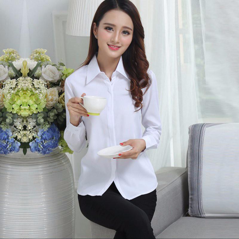 HTB1aYLRNpXXXXbmaXXXq6xXFXXXG - FREE SHIPPING White Blouse Shirt Women Work Wear Long Sleeve JKP092