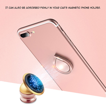 Powstro Magnetic All Metal Finger Ring Stand Magnet Holder 360 Rotating Mount Mobile Phone Drip Grip Universal for smartphone 1