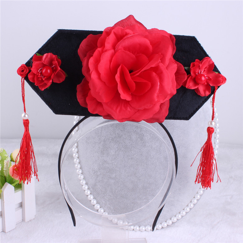 Korea lovely Big Flower Tassel Hair Accessories For Girls High Quality Hair Band Headband Hair Bow Princess 4