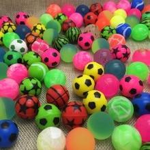 20pcs / lot vroče prodajne igrače žogo mešane Bouncy Ball otrok floati elastična gumijasta kroglica Otroci fliper igrače poskočne visoke kakovosti