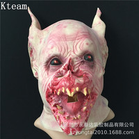 2019 Horror Bat Monster Strange Mask Latex Scary Cos Bats Mask Halloween Animals Head Devil Batman Mask Cosplay Costume Props