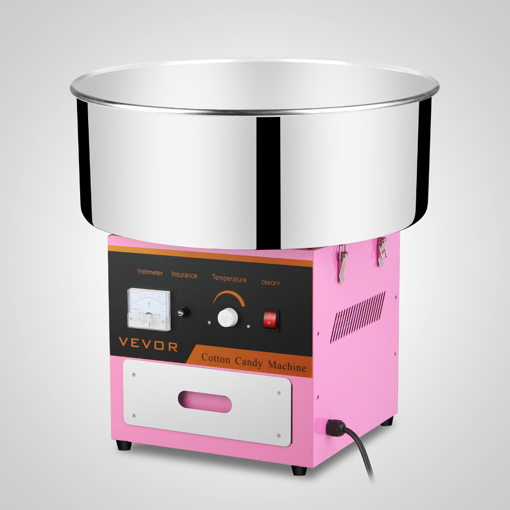 VEVOR Cotton Candy Machine Bare metal Cotton Candy Machines Stainless Steel body Quick cleaning Marshmallow Mass Production Hot