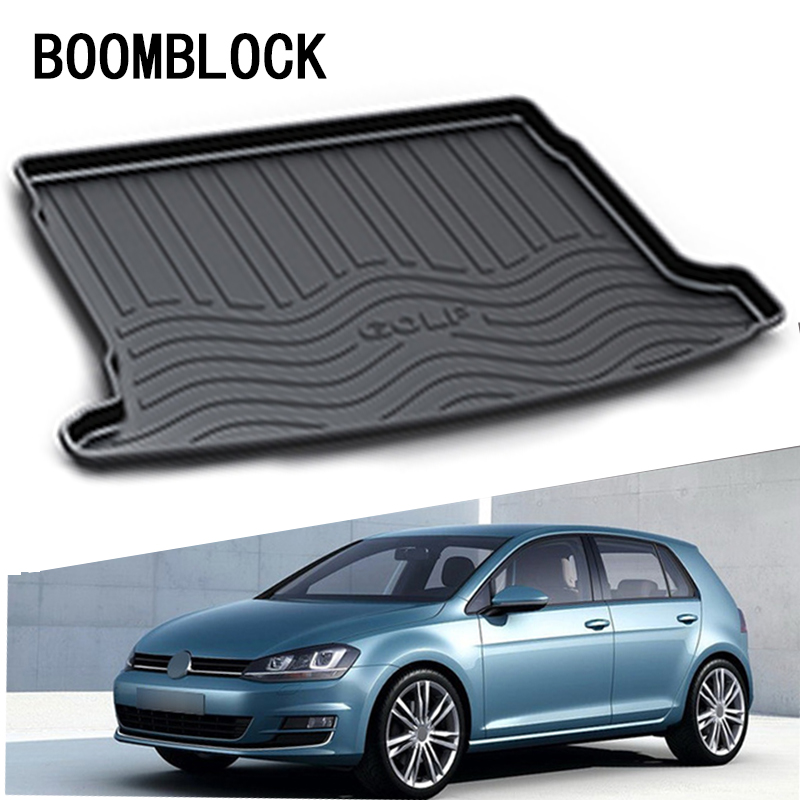 BOOMBLOCK For VW Golf MK6 Volkswagen Golf 6 2010 2011 2012 2013 Anti-slip Car Trunk Mat Tray Floor Carpet Pad Protector fit for volkswagen vw tiguan rear trunk scuff plate stainless steel 2010 2011 2012 2013 tiguan car styling auto accessories