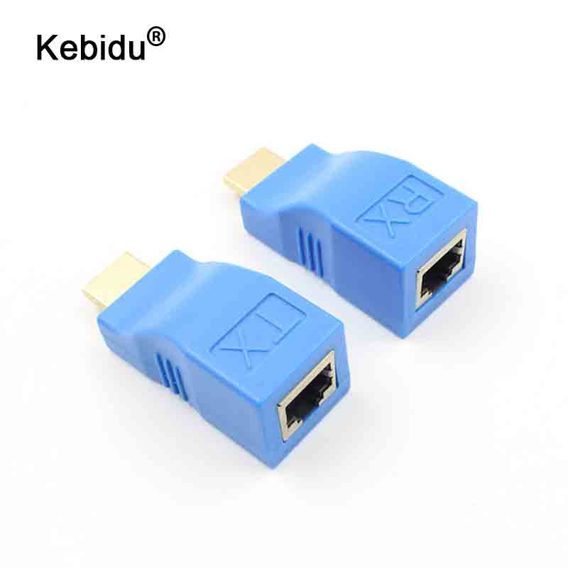 kebidu 30m hdmi extender transmitter hd 1080p tx rx over. Black Bedroom Furniture Sets. Home Design Ideas