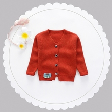 New Baby Girls Long Sleeve V Neck Cartoon Car Knitwear Cardigans Kids Sweatercoat Boys Casual Outerwear roupas de bebe
