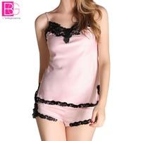 Nightgown Women Sexy Spaghetti Strap Lace Patchwork Lingerie Dress Sleepwear Sleepshirts V Neck Intimates