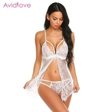 5502e92934 Avidlove Erotic Lingerie for Women Sexy Underwear Porn Babydoll Dress Hot  Lace Open Crotch Sexy Lingerie