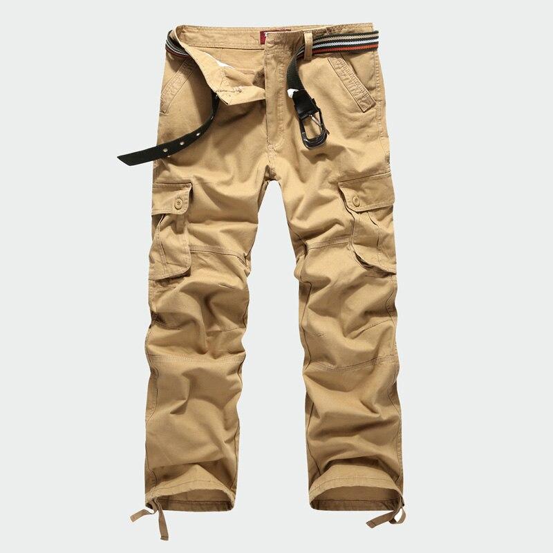 Hommes Pantalon Cargo Militaire de L armée Marque Pantalon Casual Slim Fit Coton  Long Pantalon Kaki Multi-Poche Solide Mens Pantalon Homme c70ab0b1a1e7