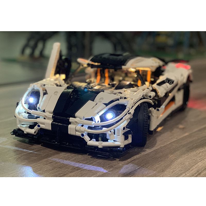 Luz LED para 20086 de 20001 Bugatti Chiron 911 GTRS Ford Mustang Compatible LegoSet técnica 42083 de 42056 bloques de construcción ladrillos Camión volquete HUIQIBAO 807 Uds., la técnica de volquete de bloques de construcción, coche volquete de ingeniería urbana, ladrillos de construcción, juguetes para niños