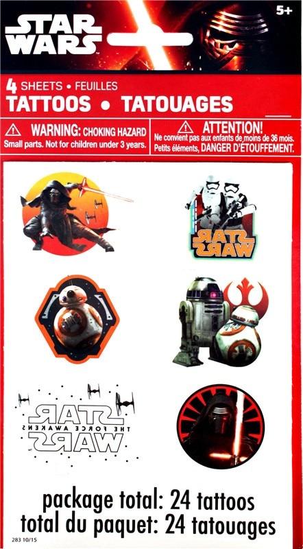 4pcs Star Wars The Force Awakens BB-8 autocollant de tatouage coloré pour cadeau aux enfants Tatouage pour enfants