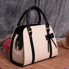 Fashion women leather handbag with bow-knot women shoulder bags beautiful women leather crossbody bag quality women leather bag