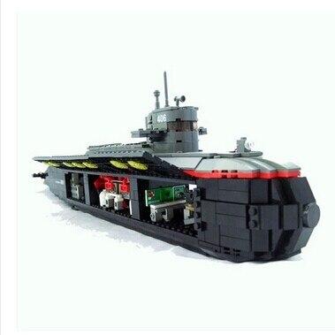 Military Toys 850pcs Ballistic Missile Nuclear Submarine