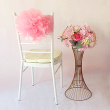 100PCS/Lot 15 Colors Wedding Decoration Big Flower Chair Sashes Band  Hotel Banquet Covers Flowers