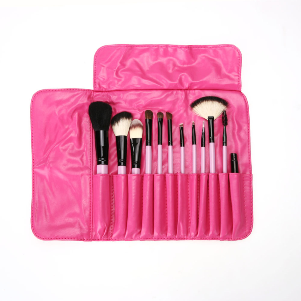 12pcs Professional makeup brushes tools set Make Up Brush tools kits for eye shadow palette Cosmetic Brushes Cosmetic Bag Gift