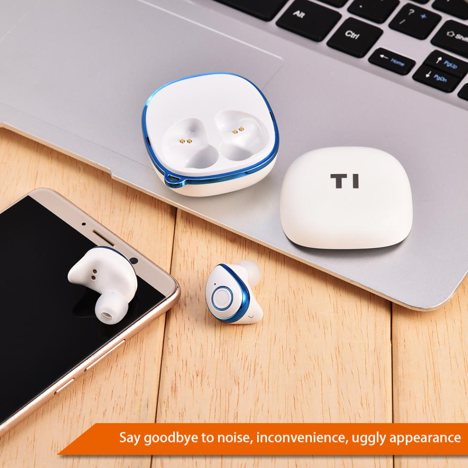 Dual Wireless Bluetooth 4.2 TWS Stereo Waterproof Portable Earphone Earbud for Iphone morul u5 plus wireless bluetooth earbud earphone bt 4 1 waterproof