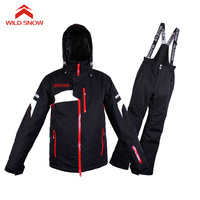 Wild Snow Professional Ski Suit Waterproof Windproof Winter Snow Suits Male Winter Skiing Snowboarding Jacket Pants Sets Brand