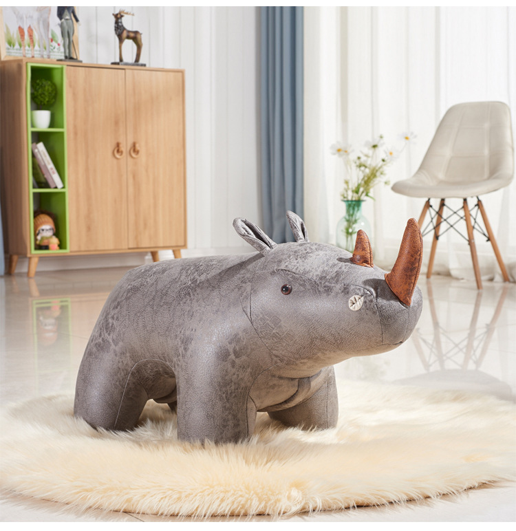 Creative Animal Cartoon Sofa Designer Furniture For Shoe Stool Children Birthday Gift Cute Home Decor
