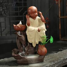 Backflow Incense Burner Holder Waterfall +10pcs Cones Censer Aroma Zen Monk Wierook Incenso Decoration