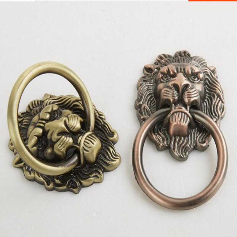 aliexpress com buy lion head wardrobe door knobsbronze color