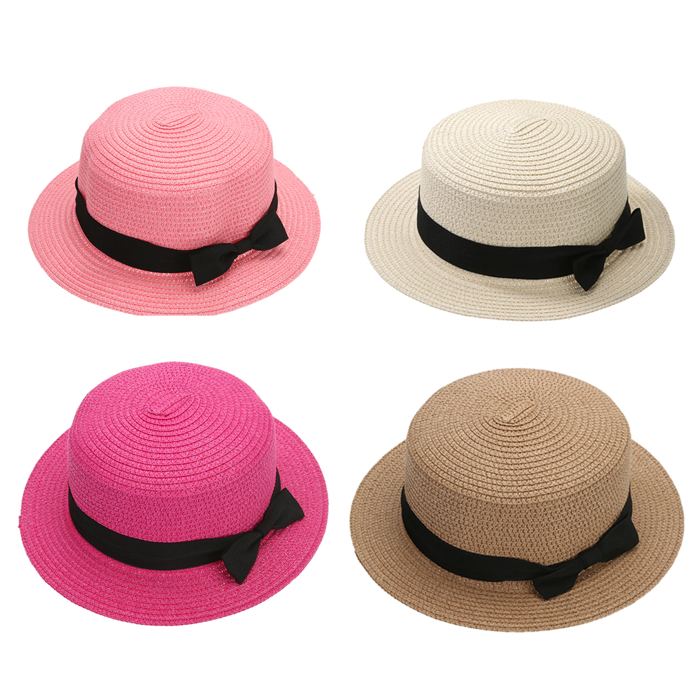 New Fashion Summer Women Sun Hat Straw Block Cap Bow Style Sun Hats Wide Brim for Female Girl Summer Beach Vacation SunHat