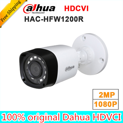 Wholesale dahua HAC-HFW1200R 1MP HDCVI IR Bullet Camera Smart IP67 1080P 2MP HD CCTV Lite Series DH-HAC-HFW1200R dahua hdcvi 1080p bullet camera 1 2 72megapixel cmos 1080p ir 80m ip67 hac hfw1200d security camera dh hac hfw1200d camera