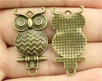 10pcs 33*16mm Antique Bronze Color Owl Connector Charms Pendant For DIY Handmade Jewelry