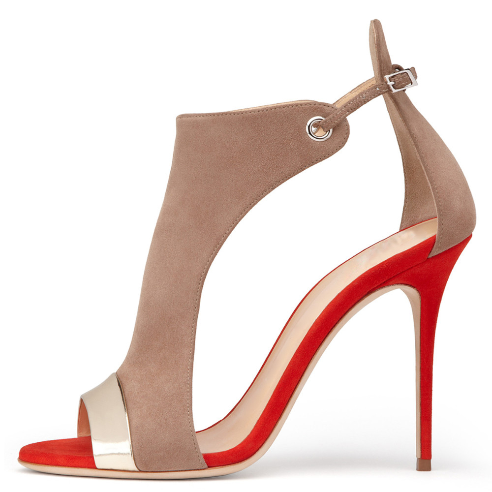 ФОТО Inisastyle 2016 New Fashion Summer stiletto high heel Peep toe ladies Sandals buckle strap Customize Women's Shoes big size 4-15