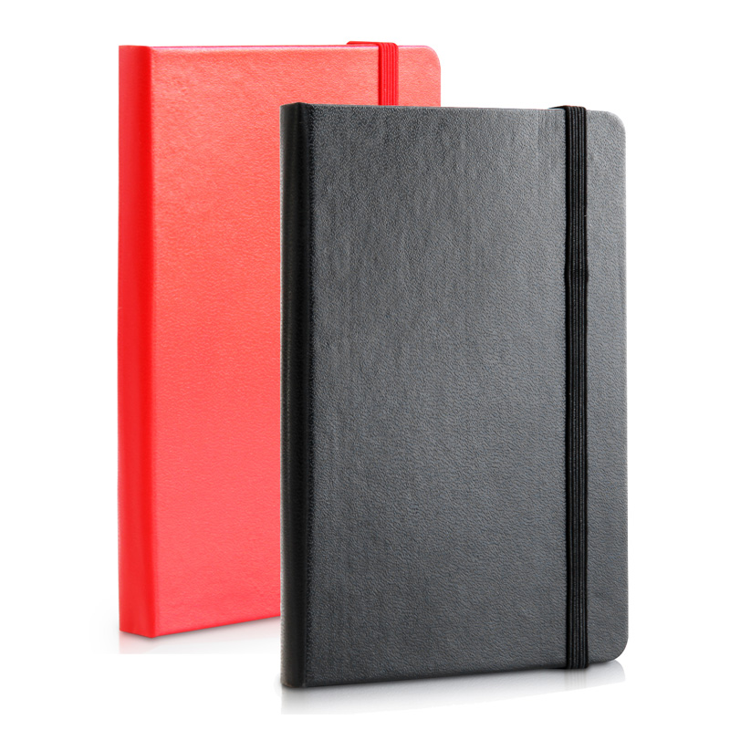 with Strap Small Notebook Black Red Notebook Papelaria Planner Agenda School Supplies Diary Travelers Notebook Composition Book