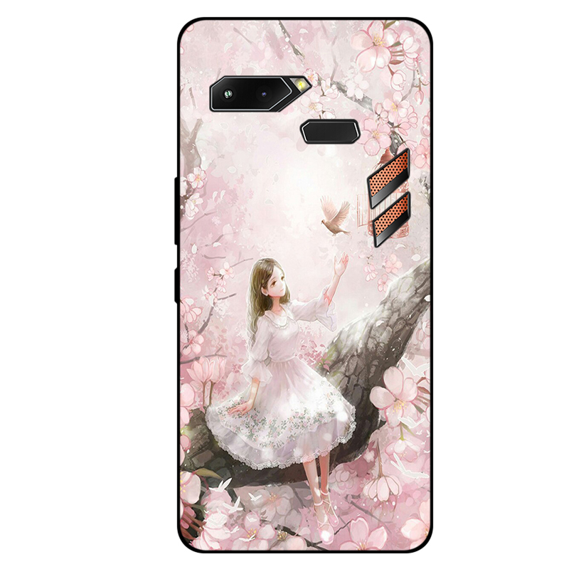 2018 For ASUS ROG Game Case Cartoon Soft Back Cover For ASUS ZS600KL Z01QD Gaming Phone Case ASUSROG Cover Cases Shell Coque