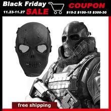 TOMOUNT Skull Skeleton Airsoft Paintball BB Gun Full Face Protect Mask Shot Helmets