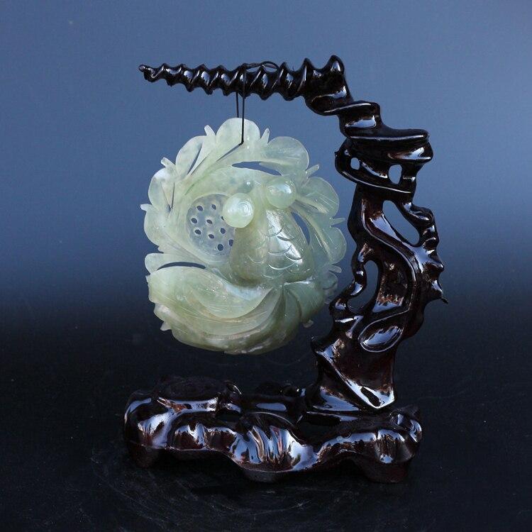 Chine fait à la main jade sculpture naturel jade poisson rouge pendentif ornemental