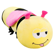 New Cartoon Kawaii Stuffed Plush Bee Toys Soft Cute Pillow Super Soft Stuffed Animal Honeybee Doll Birthday Gift for Kid Friend plush ocean cartoon shark toys soft cute pillow super soft stuffed animal shark dolls best gifts for kids friend baby 21