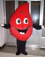 Red Drop of blood mascot costume Fancy cosplay Dress Halloween fantasia mascot costume for Valentine's Date