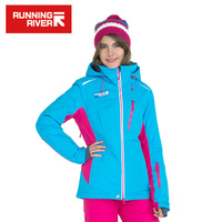 RUNNING RIVER Brand Women Winter Professional Ski Jacket High Quality Woman Ourtdoor Sports Cloth Functional Ski Jackets #A6043
