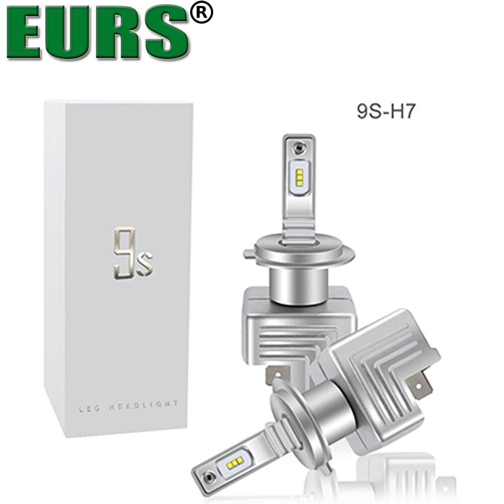 EURS 2pcs 9S H4 40W 6000LM H4 LED H7 H1 H11 H3 9005 9006 9012 High