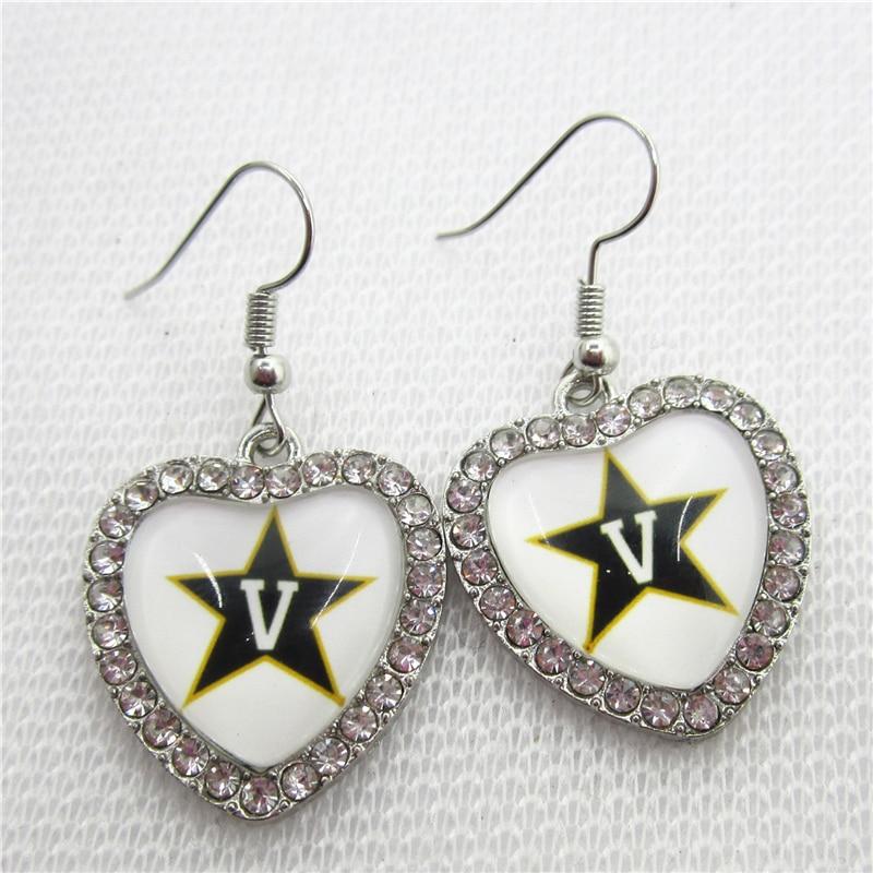 5 пар Кристалл сердца серьги Вандербилта Серьги для Модные украшения Серьги НКАА Спортивная Серьги Для женщин ювелирные изделия