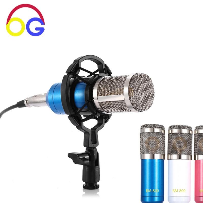 BM800 Condensador Microfone Estúdio de Gravação de Som - Áudio e vídeo portáteis
