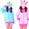 Adult little pony Cosplay Jacket Coat Long sleeve Rainbow Dash Twilight Sparkle Unicorn Costume Hooded Hoodies Horse Sweatshirts