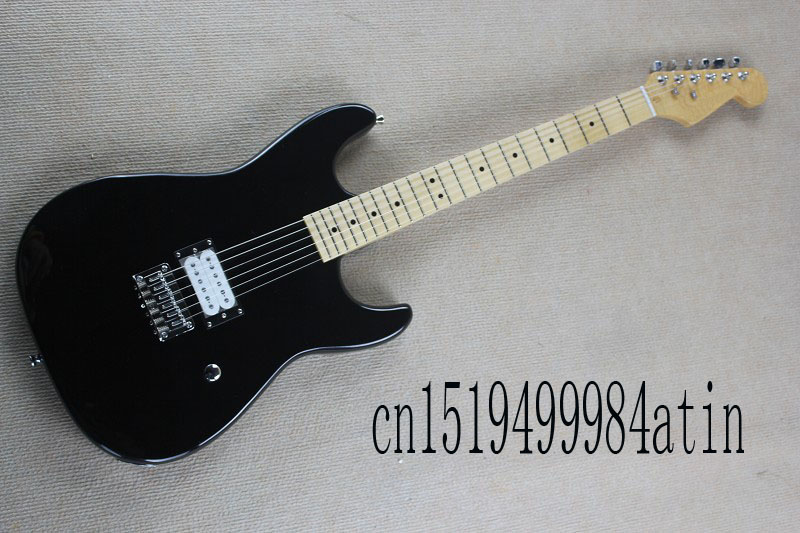 Free shipping Stratocaster made in usa 6 string black Maple fingerboard Electric Guitar custom body !!  @32 vicers guitars china maple fingerboard t ele caster electric guitar in stock free shipping