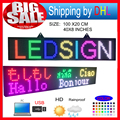 P10 RGB led Scrolling display message board/Outdoor  full color LED display/ Support computer USB programmablefor led signs