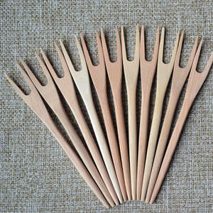 Kitchen Utensils Cake-Fork Cooking-Tools Wooden New Beech 5pcs/Lot No-Paint Quality Solid