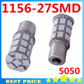 1156 5050 SMD 27 Led Car Light Source p21w Auto Cars Turn Signal Width Light for Ford Focus 2 Xenon Lamps Yellow Car Styling