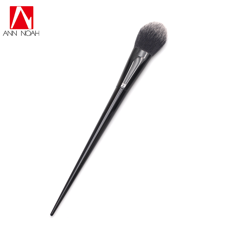 Fashion Makeup Tattoo Artist Black Long Sleek Stiletto Handle Unique Arched Shape No.25 Lock It Precision Powder Brush europe god of darkness robert recommend gp self lock grips gp3 professional tattoo artist grip