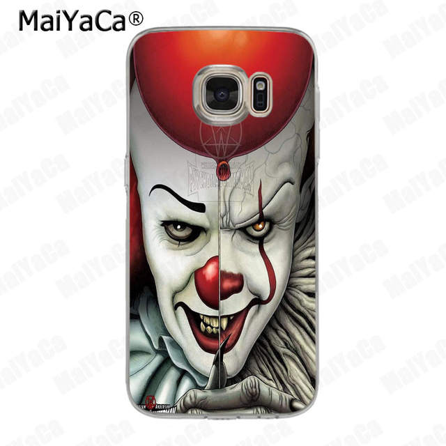 MaiYaCa Pennywise The Clown Horror soft tpu phone case cover for samsung  galaxy s7 s6 edge plus s5 s9 s8 plus case