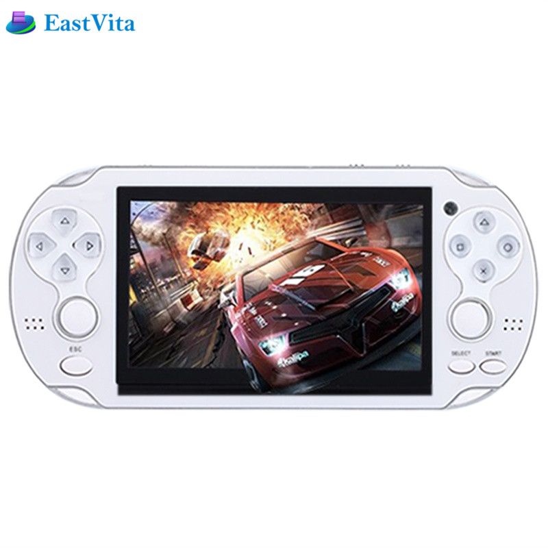 EastVita kid 8GB Handheld Game Console 4.3 Inch Portable Colorful Mini Video Gaming Players Mp4 Mp5 Support TV Out Camera E-Book