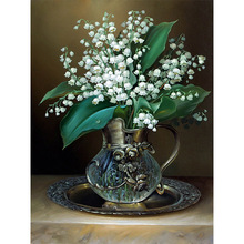 5d Diy Diamond Painting Cross Stitch  Mosaic Embroidery Bedroom flowers Point