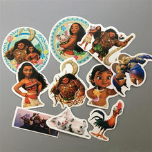 Disney moana Toy Vaiana Boneca Funny Sticker 10Pcs/set Decal For Car Laptop Bicycle Motorcycle Notebook Waterproof wall sticker(China)