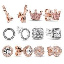 Boosbiy 2019 Newest Luxury European Style Brand Stud Earrings Elegant For Women Girls Jewelry Gift
