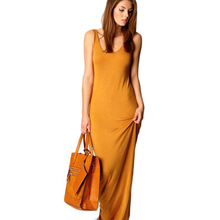 2017 Autumn Winter Casual Sleeveless Sexy Long Party Night Club Cotton Women Maxi Dress Knitted Clothes A0130